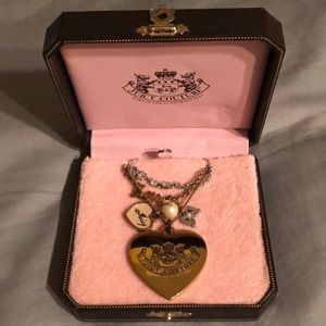 Juicy couture heart gold necklace